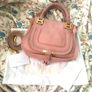 Chloe Mini Marcie Bag in Anemone Pink