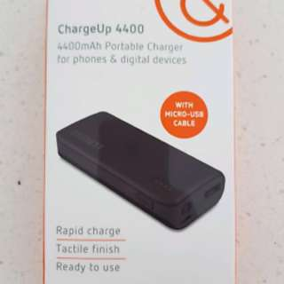 Cygnett ChargeUp 4400 portable charger power bank black
