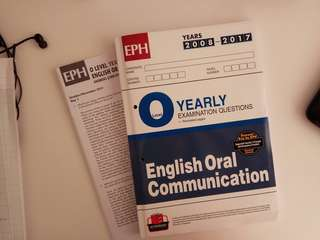 O Level English Oral communication TYS 2008 to 2017