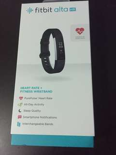 Fitbit Alta HR Fitness And Heart Rate Tracker Black L Size (Brand New Opened Box)