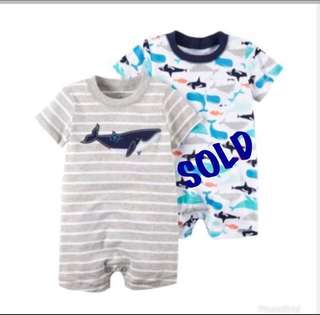 🚚 *6M* BN Carter's Snap Up Cotton Romper For Baby Boy #CarouPay