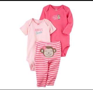 🚚 *6M* BN Carter's 3-Piece Little Character Set For Baby Girl #CarouPay