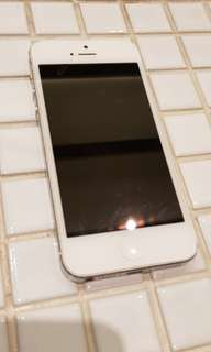 Iphone 5s silver 32GB 2014