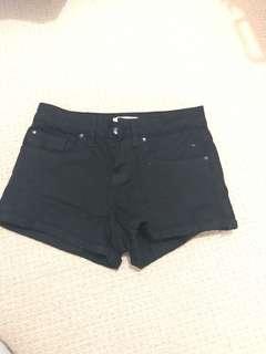 Miss shop black denim shorts
