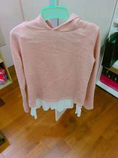 🚚 粉紅 假兩件式 長袖✨