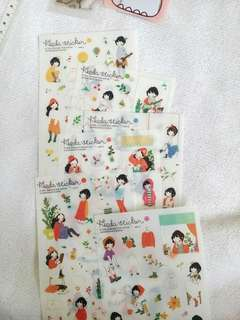 Reprice! Heidi Fashion Cat and bear Stickers
