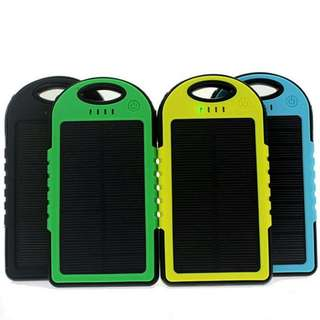 5000 mAh USB SOLAR CHARGER POWERBANK