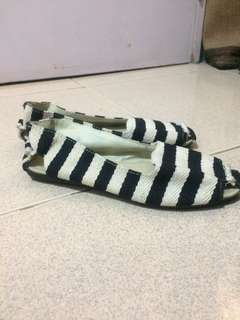 Stripe Doll Shoe