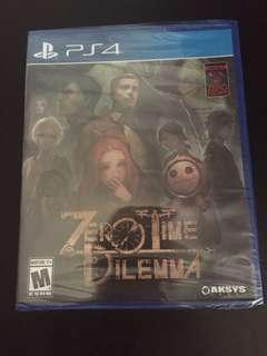 PS4 Zero Time Dilemma (New)