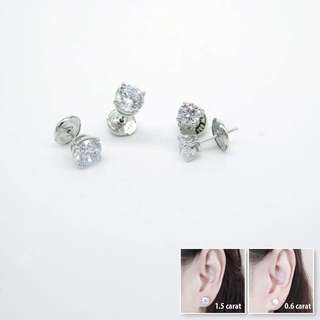 925 silver cubic zirconia earrings 925純銀蘇聯石耳環