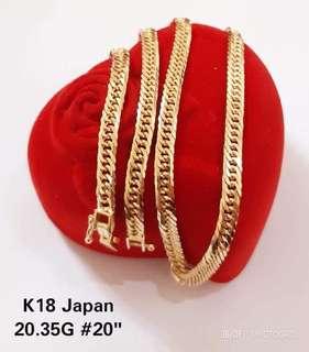 100% Authentic 18K Japan Gold Necklace
