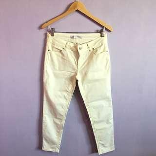 Zara Pale Yellow Pants