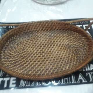 Abaca wooden tray