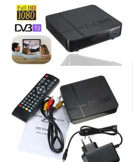DVB T2 digital tv set up box with high gain antenna