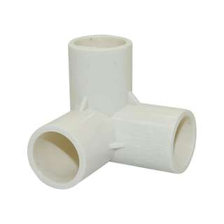 3 way PVC 90 Degrees Tee Connector Pipes