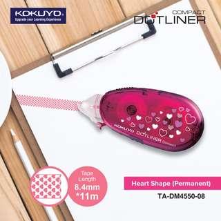 KOKUYO TA-DM4550-08 Dotliner Compact - Heart Shape (Strong Adhesive) / Refill