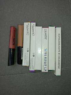 Colourpop Rimmel lip products