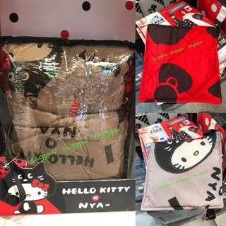 [台灣直送] Watsons Ne-net x Hello Kitty 雙面雙花 冷氣被 透氣被 Blanket 屈臣氏