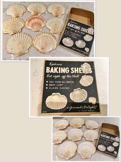 """Vintage 1950's Baking Shells by Viking ,Japan """"Eat right off the shell"""""""