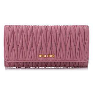 [NEW] AUTHENTIC MIU MIU LONG FLAP WALLET