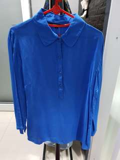 Baju panjang executive biru