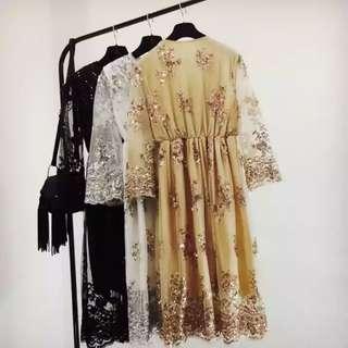 Gold shining dress