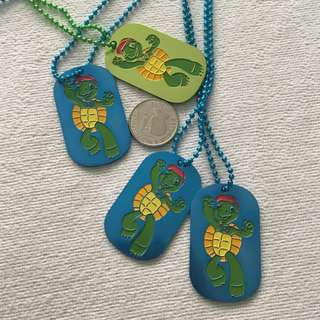 Franklin and Friends Seaworld Dog Tag Necklaces
