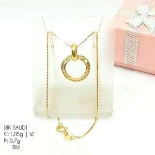 100% Authentic 18K Saudi Gold Necklace