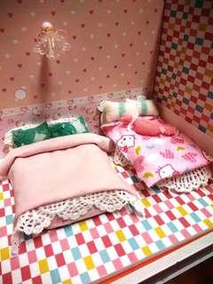 迷你娃娃床