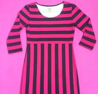 Dress stripe pink