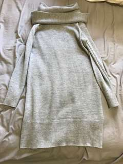 Womens off the shoulder knit dress XS