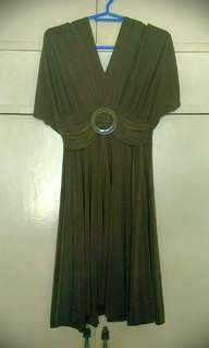 In4mation olive green short dress