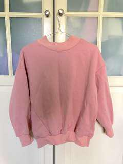 Pink mock neck sweater