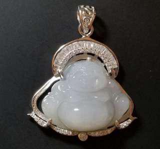 A級天然翡翠冰種佛公 (吊咀)-LOTC1701-0385 Jadite Jade