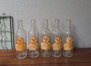 Vintage Long Chan aerated water bottles