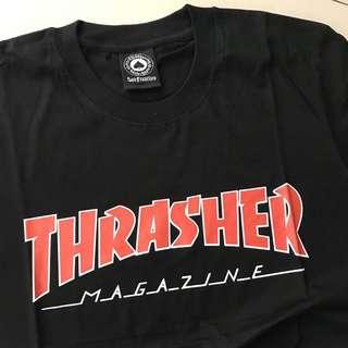 Thrasher Outline Black Red Tshirt
