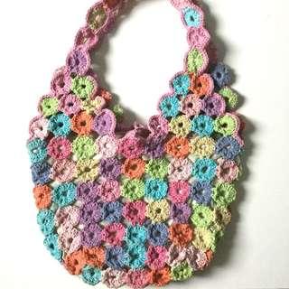 PLOVED: Rainbow Crochet Shoulder Bag