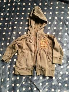 Brown hoodie jacket