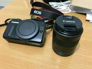 Canon EOS M 相機 連18至55 mm鏡頭 + 廣角鏡
