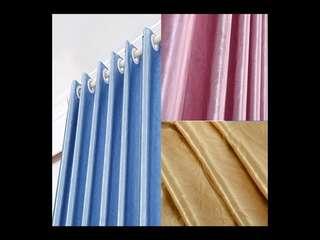 (4件/4pieces) 臥室遮光布料客廳窗簾 (遮光掛鈎款) (1.5m闊*2.0m高) (hometwo) (家居系列) (85% black-out window curtain hook style)