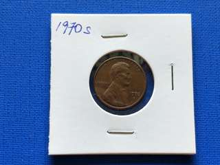 America one cent coin 1970s