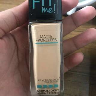 Fit Me Maybelline foundation matte poreless