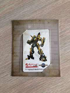 transformers universal studios limited edition ezlink card (brand new)