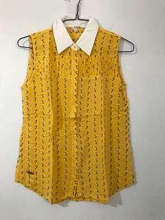 Surfer Girl flower blouse - atasan bunga kuning