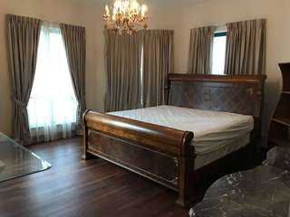 Majestic Solid Italian Teak King Size Bed with mattress