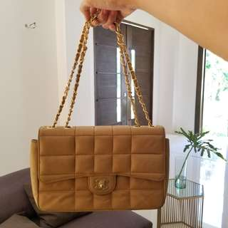 CHANEL Tan Chain Sling/ Shoulder Prelover
