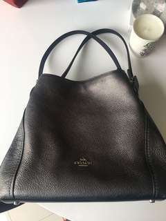 Coach Edie 31 graphite metallic bag rrp $570