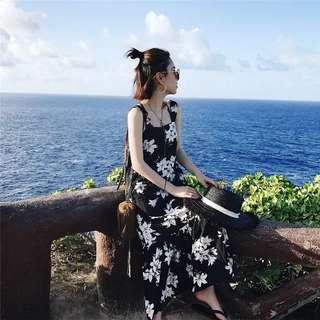 *FreePostage*Korean Summer Floral Chiffon Dress Loose
