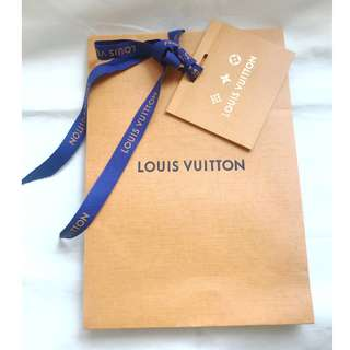 Louis Vuitton LV gift packing paper bag with ribbon & card 禮物包裝紙袋