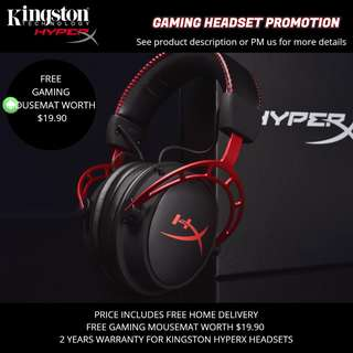Kingston HyperX Gaming Headset promotion